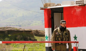 حاجز لقوات النظام السوري في مرتفعات الجولان - 2019 (رويترز)
