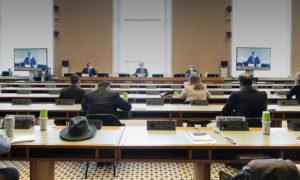 وفد المعارضة في اجتماع الجولة الخامسة من اللجنة الدستورية - 28 من كانون الثاني 2021 (هيئة التفاوض)