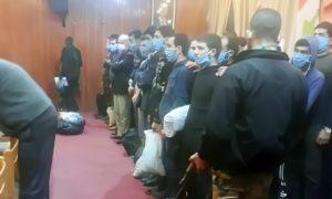الإفراج عن معتقلين من أبناء درعا 8 من شباط 2021 ( المصدر _ صفحة تجمع أحرار حوران في فيسبوك)
