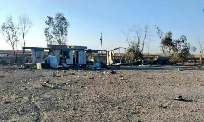 آثار الضربة الأمريكية في سوريا - 26 من شباط 2021 (شبكة الإعلام المقاوم)