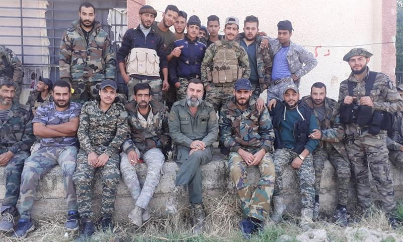 عناصر من الفرقة الرابعة في درعا - 1 تشرين الأول 2020 (الفرقة الرابعة قوات الغيث/ فيسبوك)