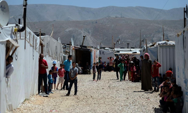 مخيمات عرسال للاجئين السوريين (AFP)