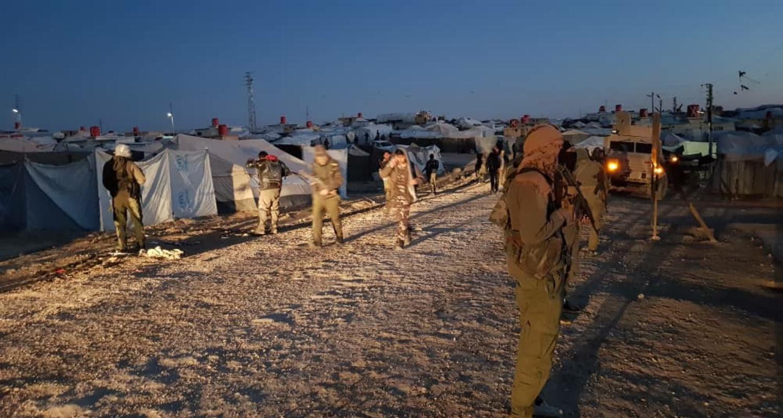 عناصر من قوات سوريا الديمقراطية في مخيم الهول - 27 آذار 2021 (هاوار)
