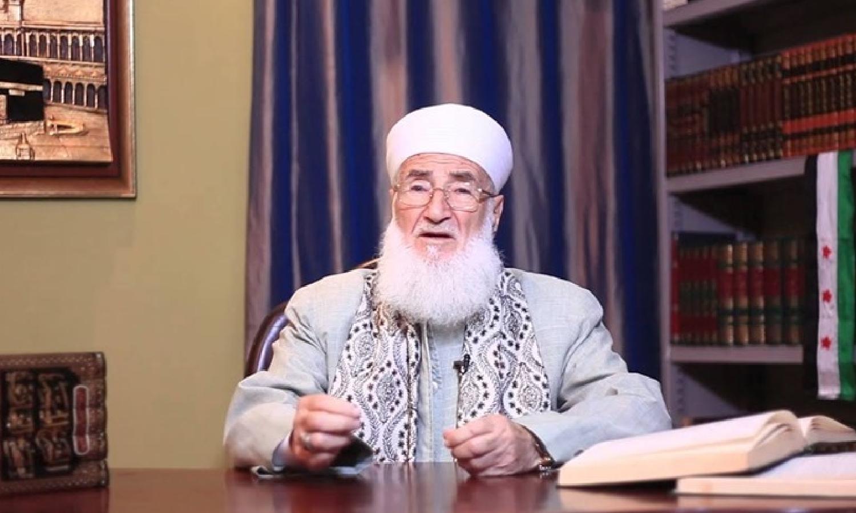 """الشيخ محمد علي الصابوني (المصدر_ صفحته الرسمية في """"فيسبوك"""")"""