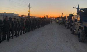 """مقاتلون من """"قوات سوريا الديمقراطية"""" في مخيم الهول شمال شرقي سوريا - 28 آذار 2021 (zana amedi/ تويتر)"""