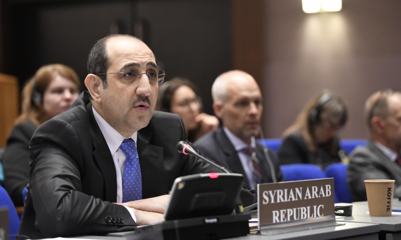 السفير بسام صباغ في الدورة الخاصة الرابعة لمؤتمر الدول الأطراف في اتفاقية الأسلحة الكيماوية - نيسان 2018 (منظمة حظر الأسلحة الكيماوية)