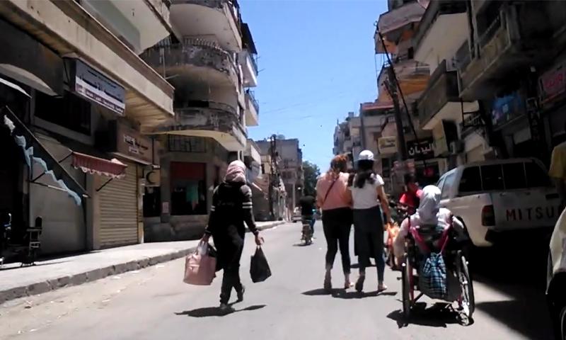 حي باب السباع في مدينة حمص - حزيران 2020 (دوحة العاصي والميماس/ يوتيوب)