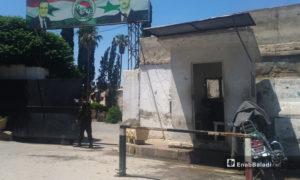 باب فرع المداهمة في حي الميدان بحلب - أيار 2020 (عنب بلدي)
