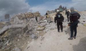 حادثة تفجير في مقلع حجري في إدلب - 11 آذار 2021 (الدفاع المدني)