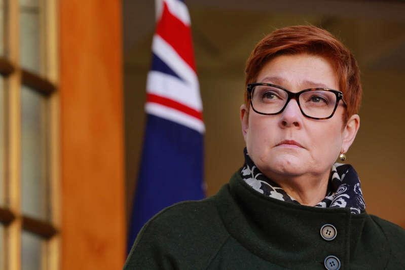 وزيرة الخارجية الاسترالية، ماريس باين، 21 من نيسان (abc NEWS)