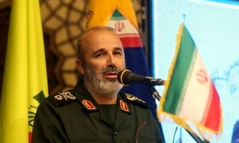 """نائب قادئد """"فيلق القدس في الحرس الثوري الإيراني، محمد رضا فلاح زادة (وكالة تسنيم)"""