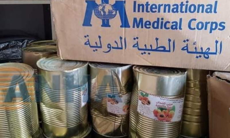 مساعدات أممية في مقر للدفاع الوطني التابع للنظام السوري في مدينة القامشلي (هاوار نيوز)