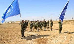 تدريبات قوى الأمن الداخلي في ريف الرقة الغربي - 6 آذار 2021 (قوى الأمن الداخلي/ فيسبوك)