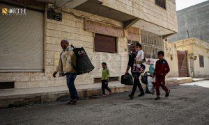 نزوح سكان حي طي من خطوط الاشتباك بين قوى الأمن الداخلي وميليشيا الدفاع الوطني - 21 نيسان 2021 (نورث برس)