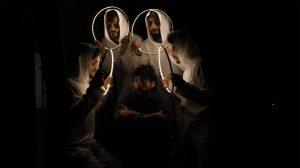 عرض مسرحية تحت الصفر على خشبة مسرح المركز الثقافي في إدلب - 27 آذار 2021 (بنفسج)