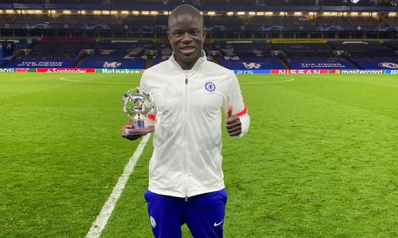 اللاعب نغولو كانتي لاعب في نادي تشيلسي- 5 من أيار 2021 (موقع نادي تشيلسي الرسمي)