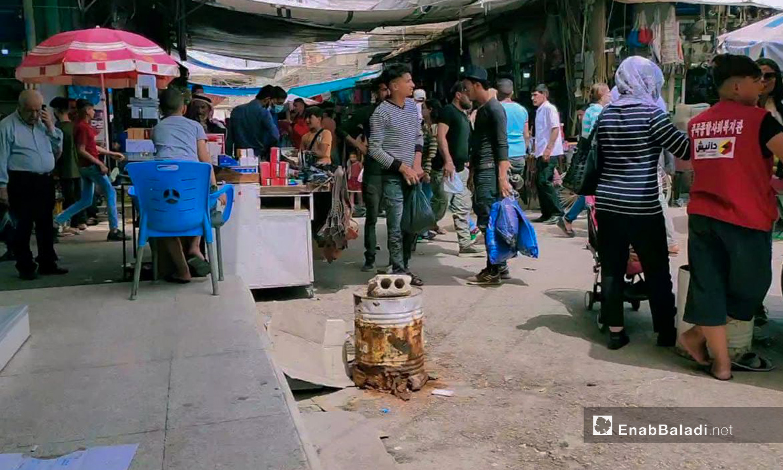 أسواق مدينة القامشلي قبل عيد الفطر  - 12 أيار 2021 (عنب بلدي/مجد السالم)
