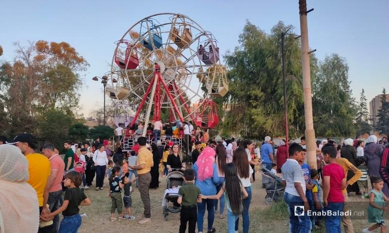 أجواء عيد الفطر في مدينة القامشلي - 15 أيار 2021 (مجد السالم / عنب بلدي )