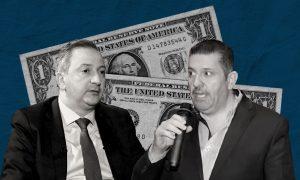مدير الجمارك العام فواز أسعد (يمين) وحاكم مصرف سوريا المركزي حازم قرفول (عنب بلدي)