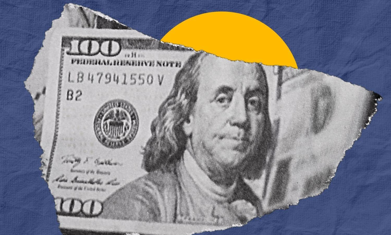 ورقة نقدية من فئة 100دولار (تعديل عنب بلدي)