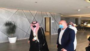 وزير السياحة في حكومة النظام السوري، محمد رامي رضوان مرتيني، بزيارة إلى السعودية، 2021، سانا.