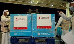 مساعدات طبية من الهلال الأحمر الإماراتي إلى دمشق (وام)