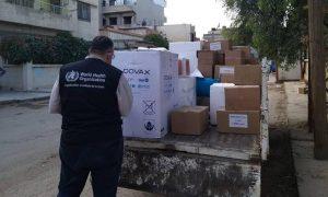 نقل جرعات لقاح فيروس كورونا إلى القامشلي في الحسكة من قبل منظمة الصحة العالمية - 3 أيار 2021 (منظمة الصحة العالمية)