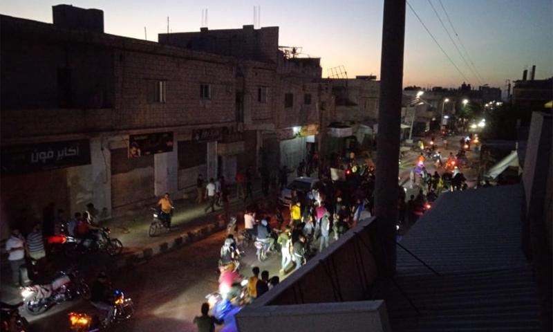 الحركة الليليلة في مدينة جاسم بريف درعا الغربي - 26 أيار 2021 (فيسبوك/ جاسم الحبيبة)
