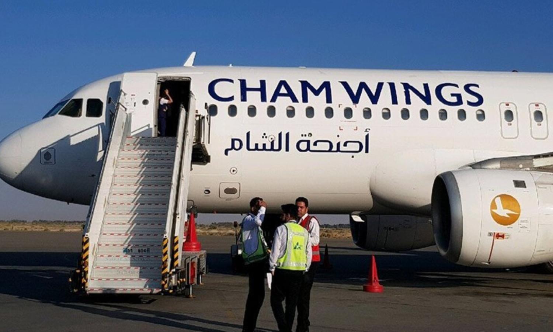 """طائرة لشركة """"أجنحة الشام"""" (موقع أجنحة الشام)"""
