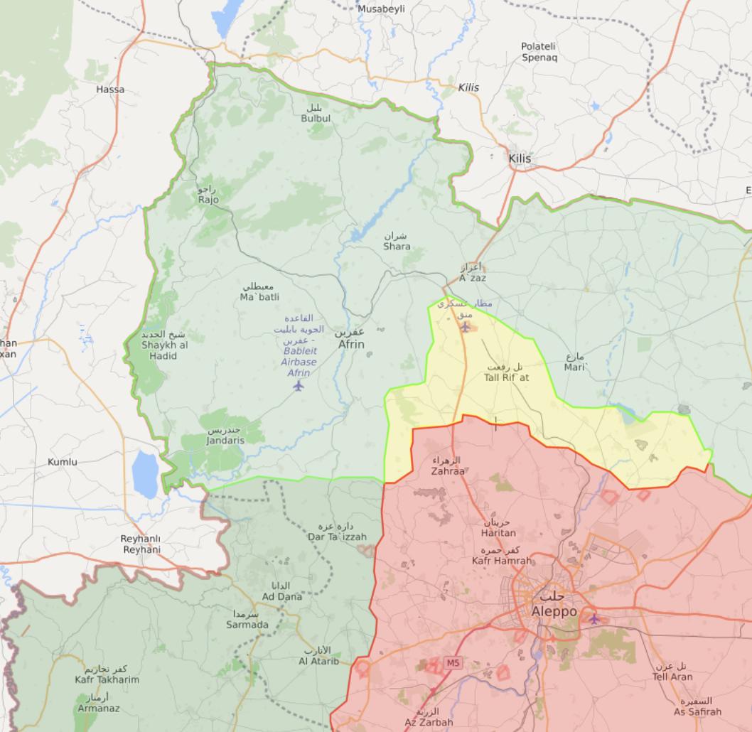 خريطة تظهر توزع السيطرة في شمال غربي سوريا - 13 حزيران 2021 (Livemap)