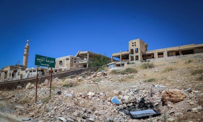 """مخيم حندرات """"عين التل"""" للاجئين الفلسطينيين في حلب، 2021، المصدر: """"أونروا""""."""
