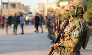 """عناصر من قوى الأمن الداخلي """"أسايش""""، صفحة """"قوى الامن الداخلي شمال وشرق سوريا"""" في موقع """"فيس بوك""""، 2021."""
