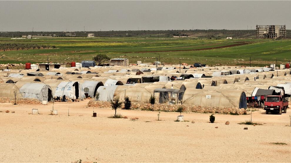 مخيمات الشهباء في ريف حلب الشمالي، 2021، المصدر: ANF.