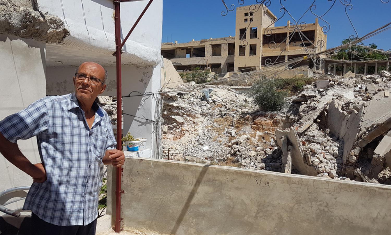 """مخيم """"عين التل"""" (حندرات) للاجئين الفلسطينيين شمال شرقي حلب، المصدر: """"أونروا""""، 2021."""