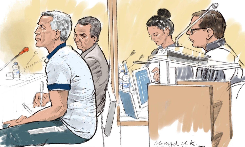 رسم تعبيري لمحاكمة المتهم أحمد الخضر في هولندا (ANP)