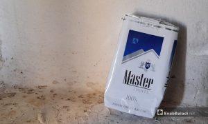 """علبة سجائر من نوع """"ماستر""""- 23 تموز 2021 (عنب بلدي/حسام العمر)"""