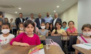 """افتتاح مركز تعليمي في أسنيورت باسطنبول، """"الجمعية التركية للتضامن مع فلسطين""""، 2021."""