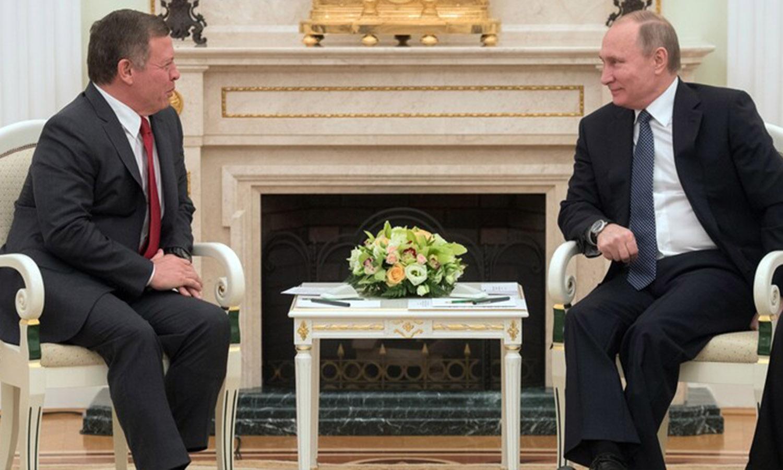 الرئيس الروسي، فلاديمير بوتين، يستقبل في الكرملين العاهل الأردني، الملك عبد الله الثاني، عام 2017 ( سبوتنيك)
