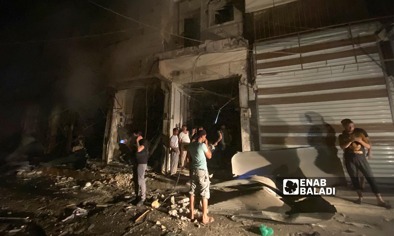 آثار قصف مدفعي استهدف مدينة الباب - 5 آب 2021 (عنب بلدي / عاصم ملحم)