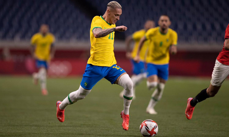 انتنوني سانتوس لاعب منتخب البرازيل الاولمبي- 30 تموز 2021 (الاتحاد البرازيلي لكرة القدم)