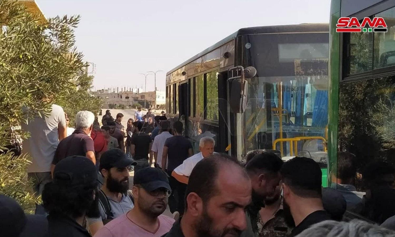 خروج الدفعة الثانية من درعا البلد إلى الشمال السوري 26 من آب (قناة سما)