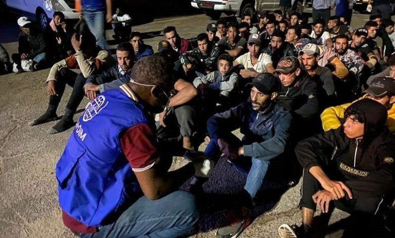 مجموعة من المهاجرين في سواحل ليبيا 8 من آب (تجمع أحرار حوران)