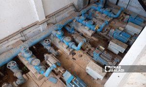 مضخات مياهعيون العبد في بلدة العجمي ريف درعا الغربي 9 آب 2021 (عنب بلدي / حليم محمد)
