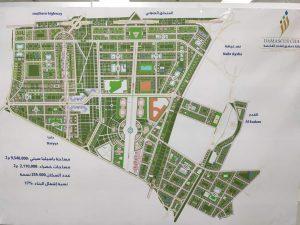 """صورة عن المخطط التنفيذي للمنطقة التنظيمية الثانية حسب مرسوم رقم """"66"""" لعام 2012 المسمى """"باسيليا ستي""""- تموز (صفحة """"محافظة دمشق- المكتب الإعلامي"""" عبر """"فيس بوك"""")"""
