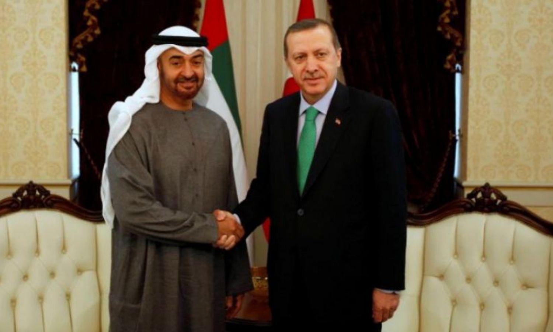 الرئيس التركي رجب طيب أردوغان، مع ولي عهد أبو ظبي محمد بن زايد، 2021، المصدر: monitor de oriente.