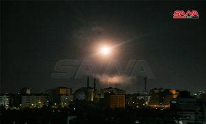 قصف إسرائيلي على دمشق - 19 آب 2021 (سانا)