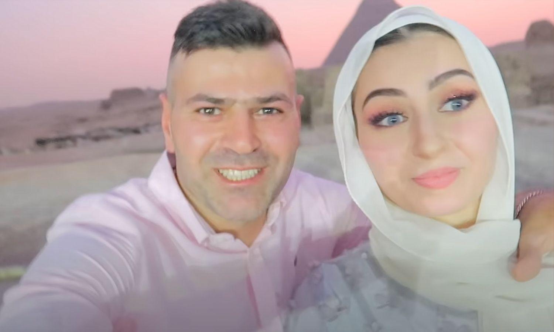 اليوتيوبر السوري سيامند، وزوجته شهد (حسابه في يوتيوب)