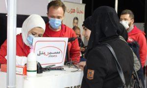موظفون في شركة سيريتل للاتصالات في سوريا - 5 نيسان 2021 (صفحة الشركة في فيس بوك)
