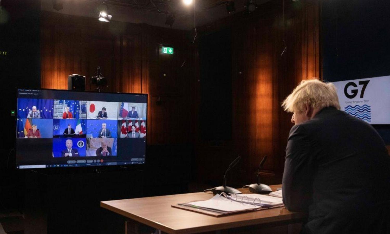 """اجتماع افتراضي لقادة """"مجموعة السبع"""" حول أفغانستان، موقع mirror، 2021."""