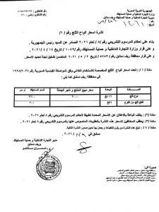 """قرار """"مديرية التجارة الداخلية وحماية المستهلك"""" بريف دمشق بتحديد أسعار ألواح الثلج (حساب المديرية في """"تلغرام"""")"""